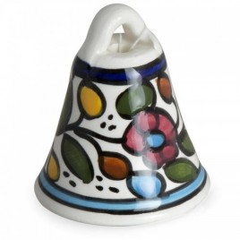Ceramic Colorful Flowers Bell