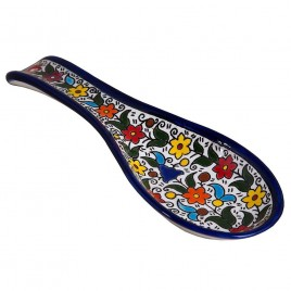 Colored Flowers Spoon Large
